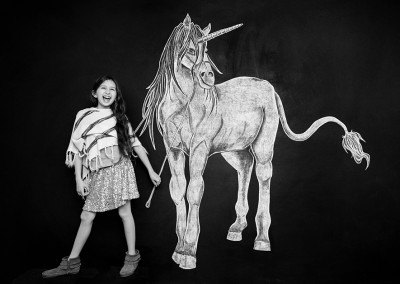 Unicorn Chalkboard Portrait