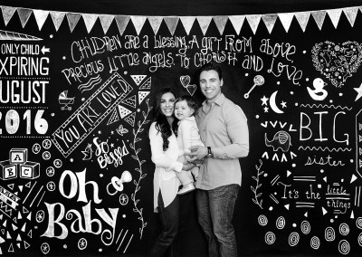 Baby Announcement Chalkboard Portrait